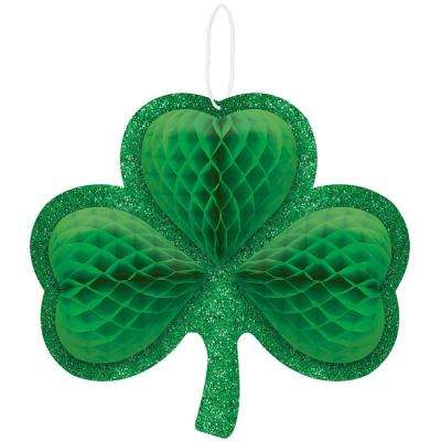 12.5 in. x 13.5 in. St. Patrick's Day Green Shamrock Honeycomb Decoration (3-Pack)