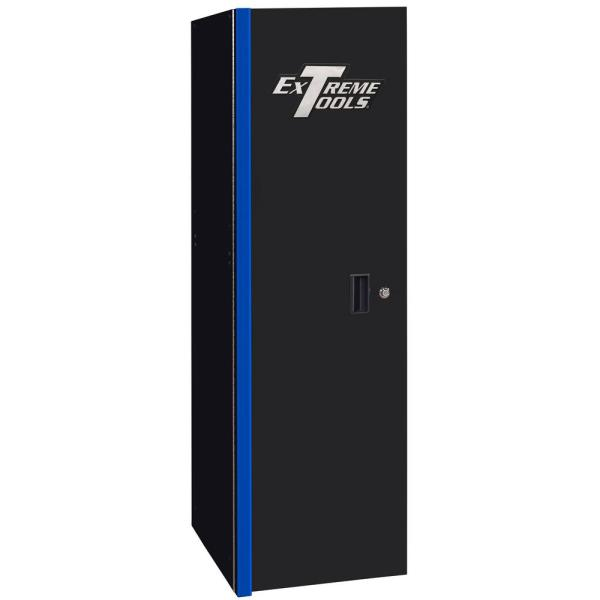 19 in. 3-Drawer Side Locker Tool Chest in Black with Blue Trim