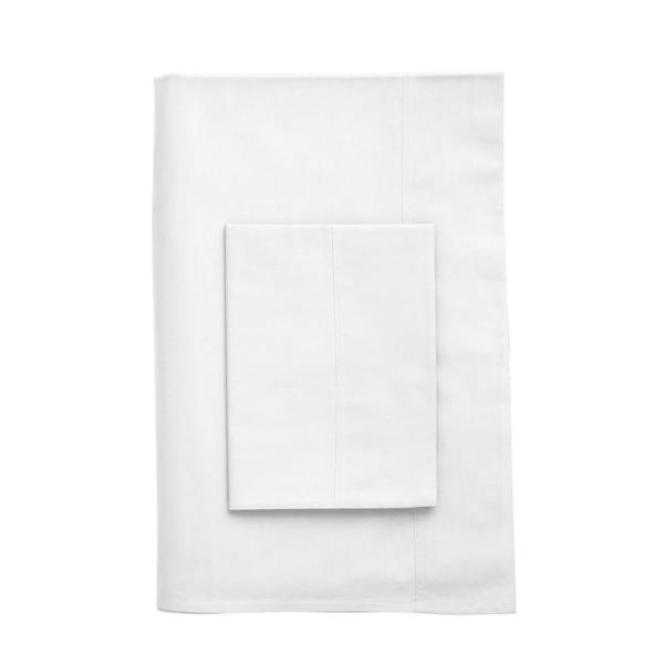 The Company Store Company Cotton White Percale Queen Duvet Cover