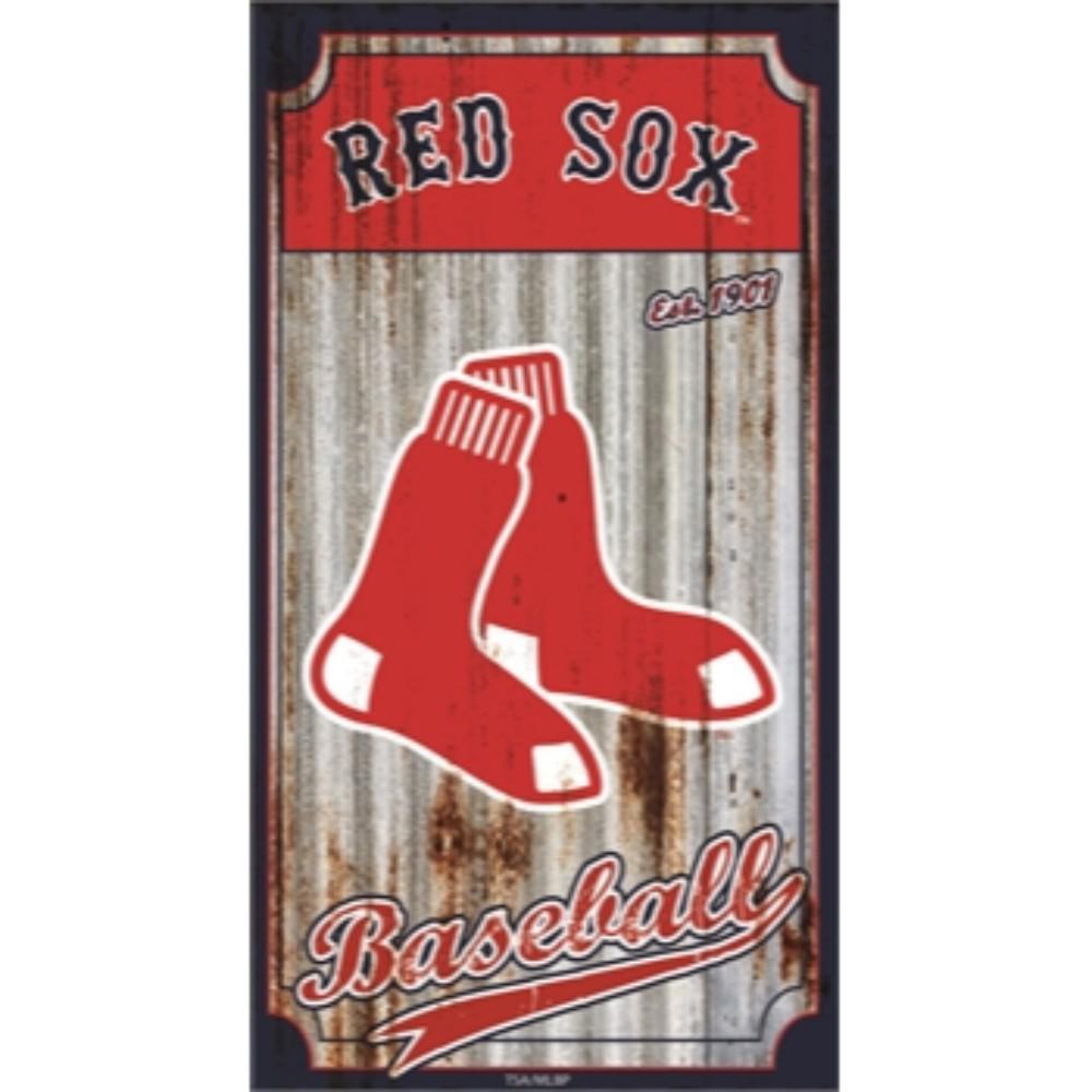 Boston Red Sox MLB Corrugated Metal Indoor/Outdoor Wall Art
