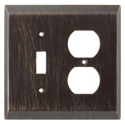 Stately Decorative Switch and Duplex Outlet Cover, Venetian Bronze