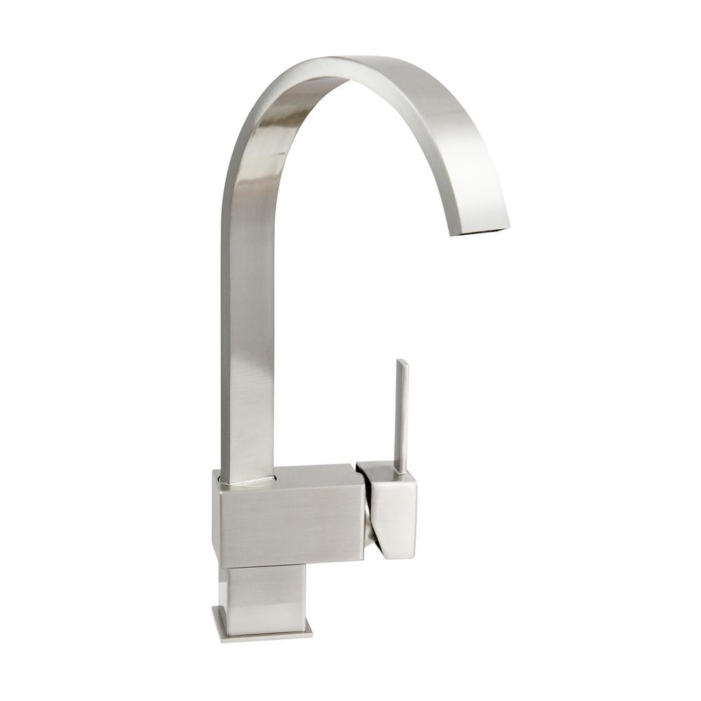 Dyconn Hudson 12.5 in. Single Hole Single-Handle Bathroom Faucet in Brushed Nickel