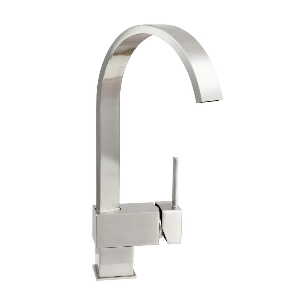 Hudson 12.5 in. Single Hole Single-Handle Bathroom Faucet in Brushed Nickel