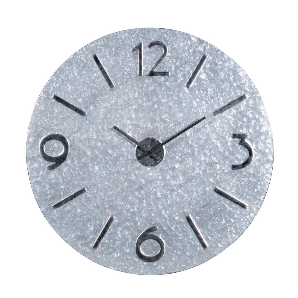 Miner 30 in. Galvanized Steel Wall Clock