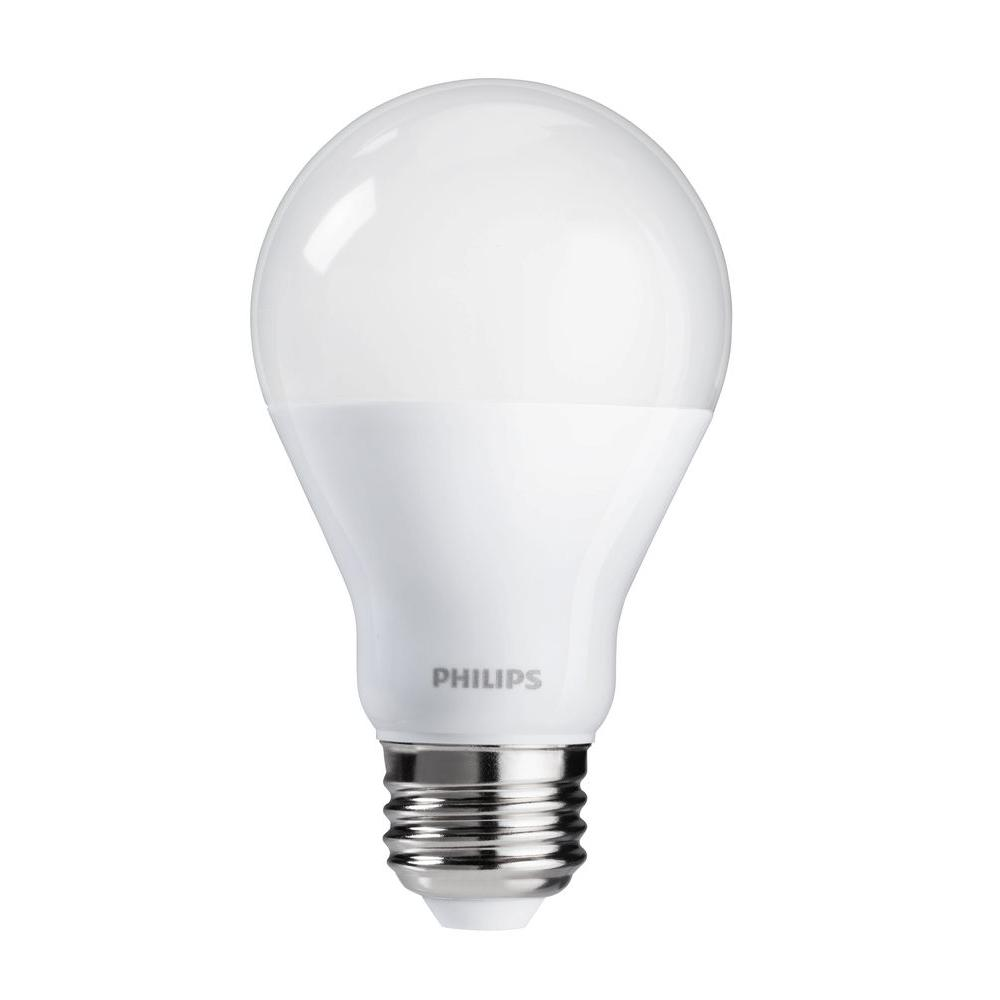 philips 60 watt equivalent a19 cri90 dimmable led light bulb soft white 12 pack 465195 the. Black Bedroom Furniture Sets. Home Design Ideas