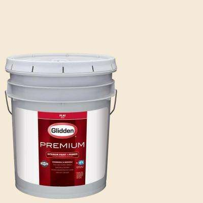 5 gal. #HDGY09U Shell White RM Flat Interior Paint with Primer