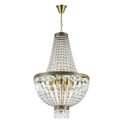 Metropolitan 6-Light Antique Bronze Crystal Chandelier