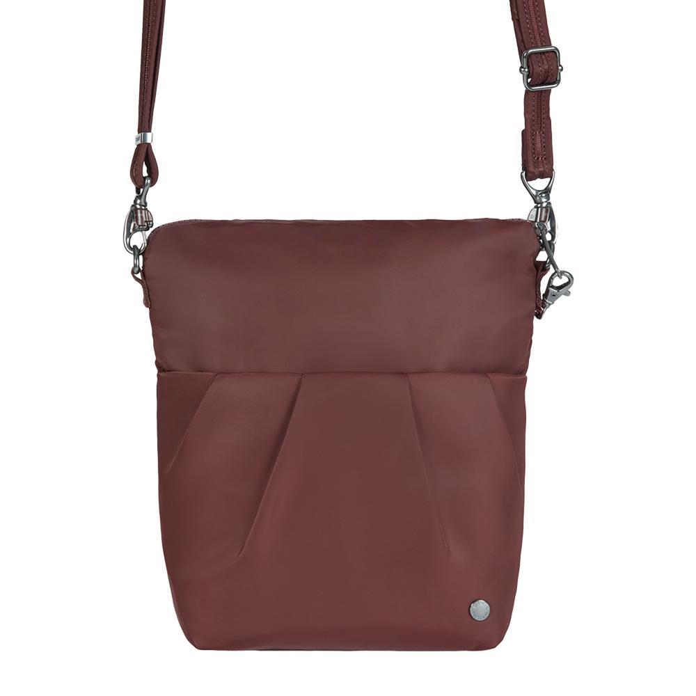 Pacsafe Citysafe Cx Convertible Crossbody Merlot Red Tote Bag 20405319 The Home Depot