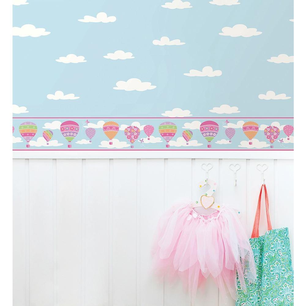 Balloons Blue Wallpaper Border Sample