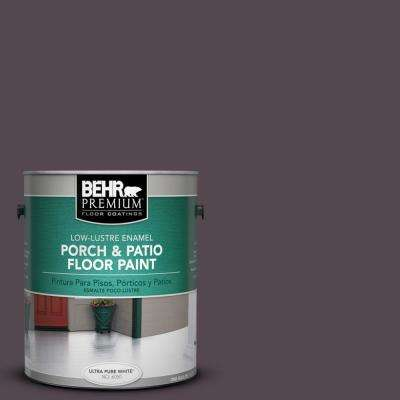 1 gal. #N100-7 Aubergine Low-Lustre Porch and Patio Floor Paint