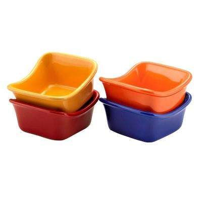 3 oz. Square Dipping Cups in Assorted Colors (Set of 4)