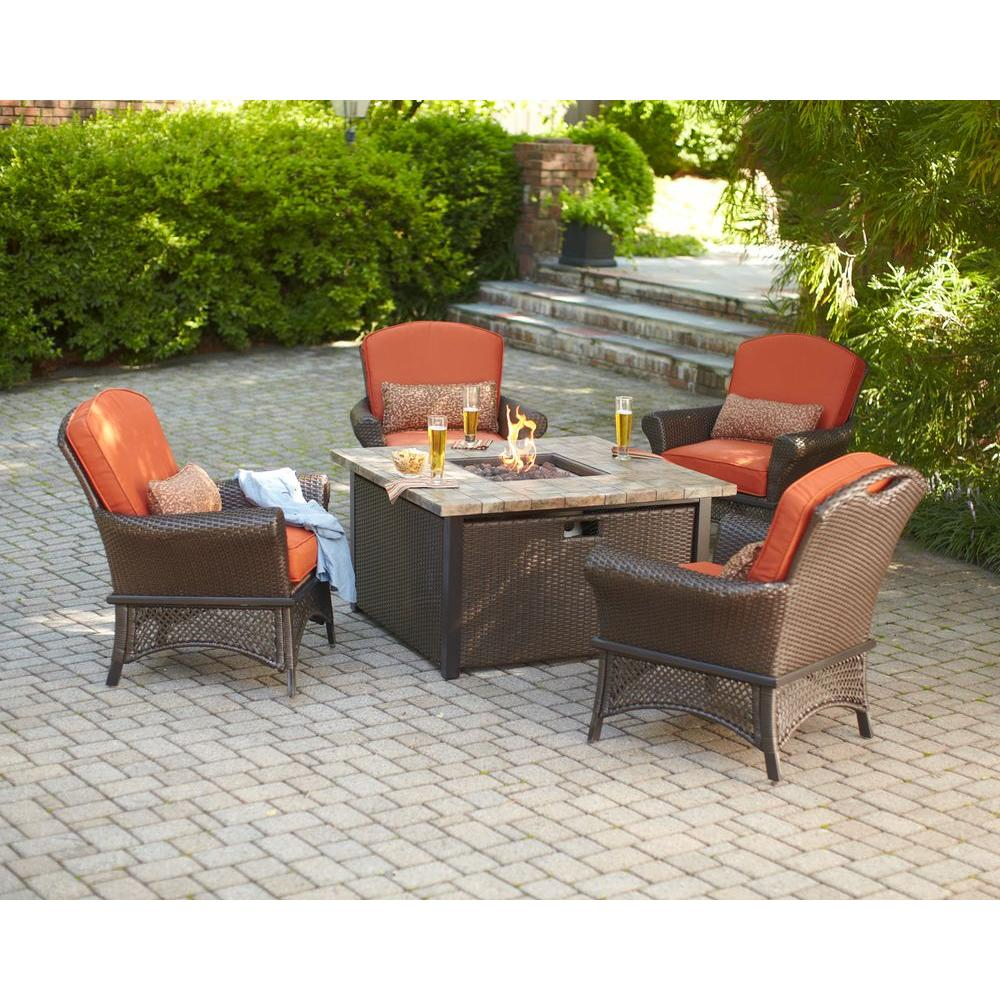 hampton bay fire pit sets outdoor lounge furniture the home
