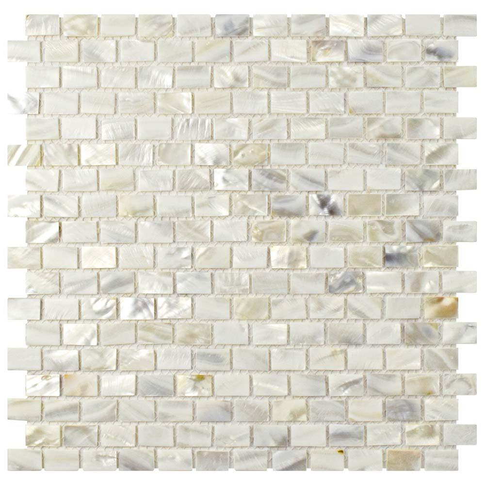 Well-liked Merola Tile Conchella Subway White 11-3/4 in. x 11-3/4 in. x 2 mm  PC87