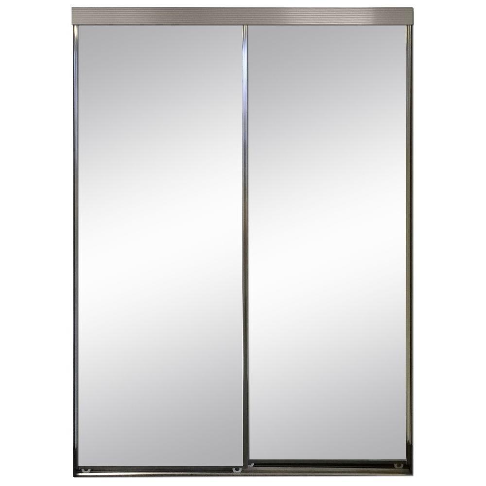 Polished Edge Mirror Framed With Gasket Interior Closet Sliding