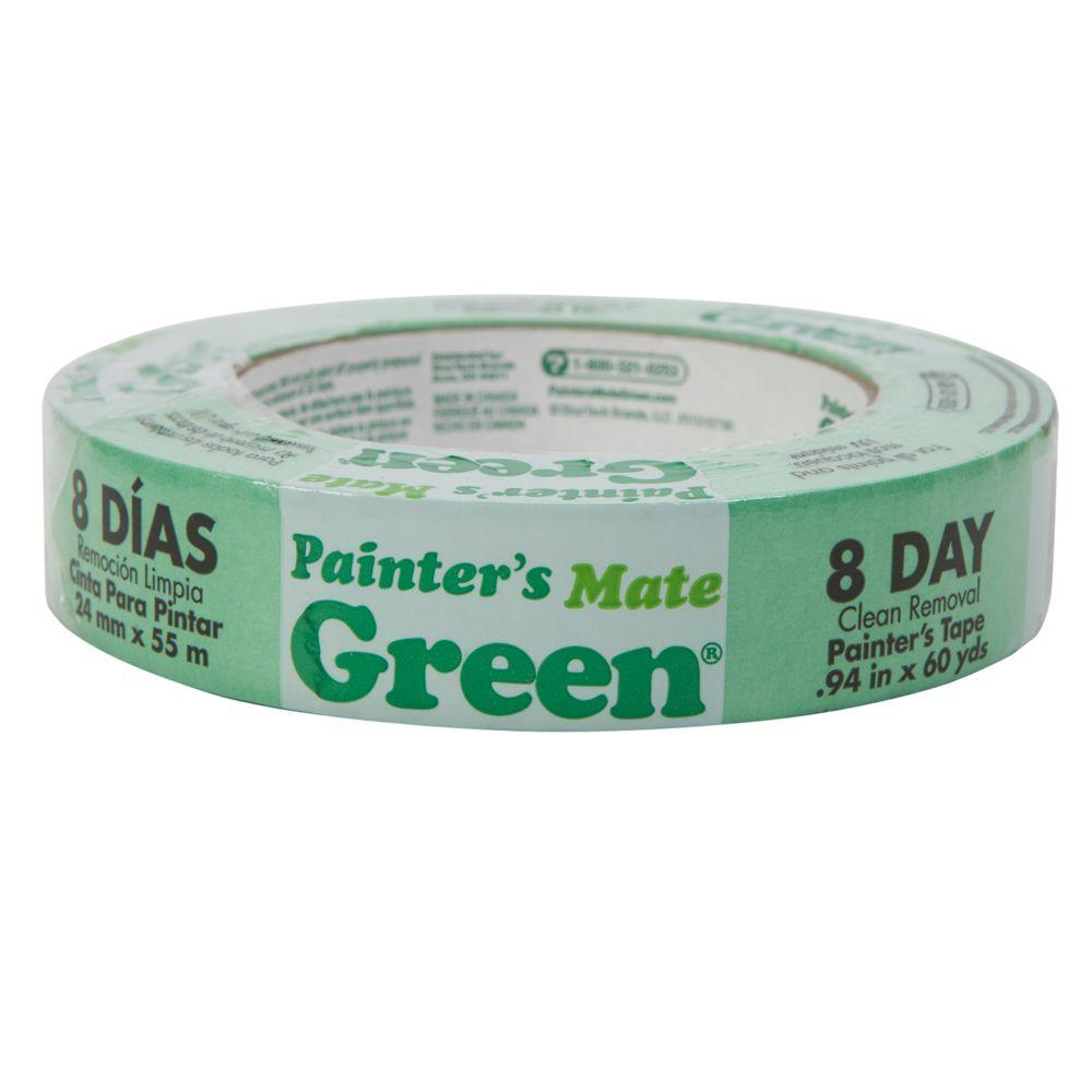 Painter's Mate Green 0.94 in. x 60 yd Masking Tape, (24-Pack)
