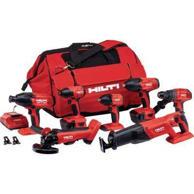 22-Volt Lithium-Ion Cordless Combo Kit (7-Tool)