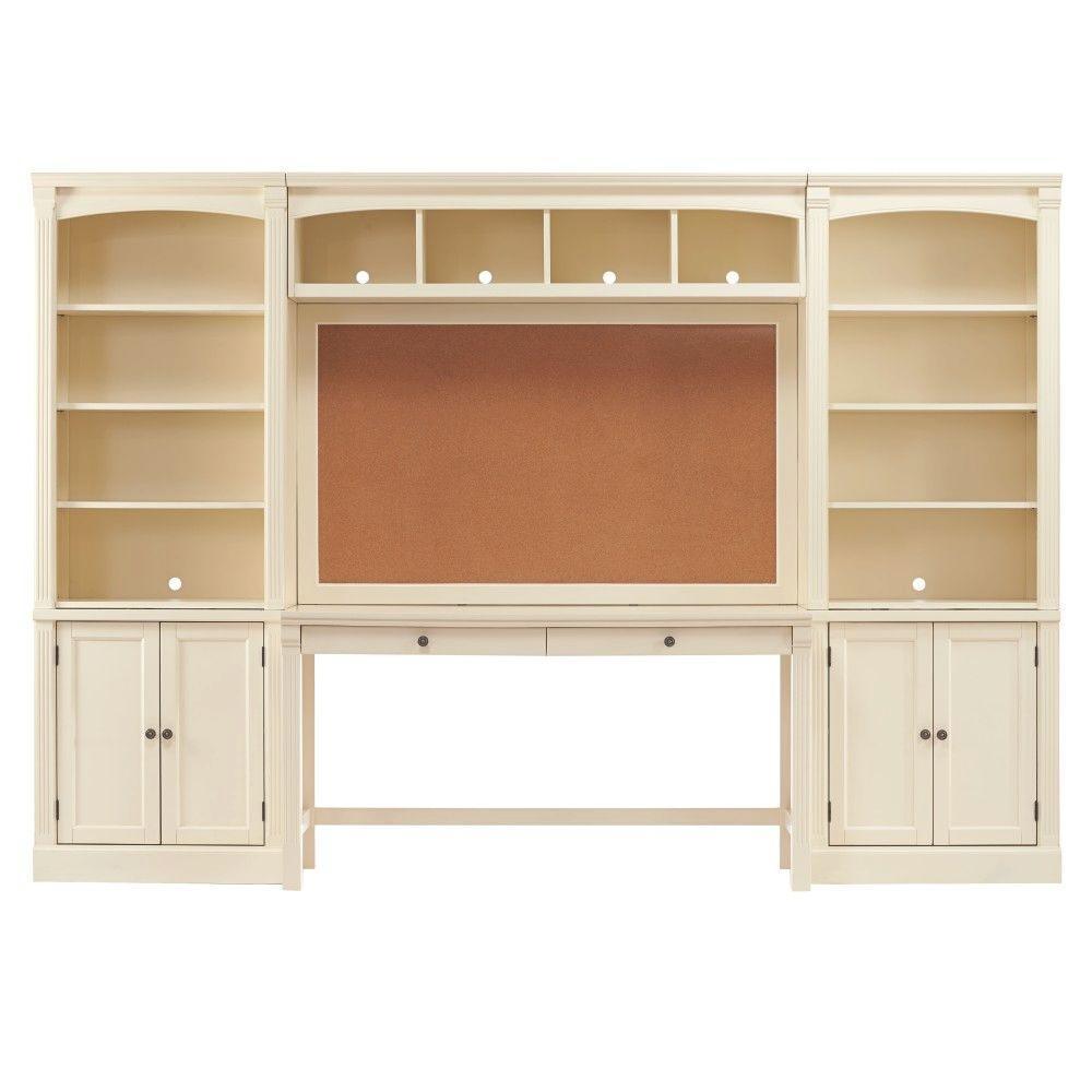 Edinburgh 7-Piece Ivory Modular Office Suite