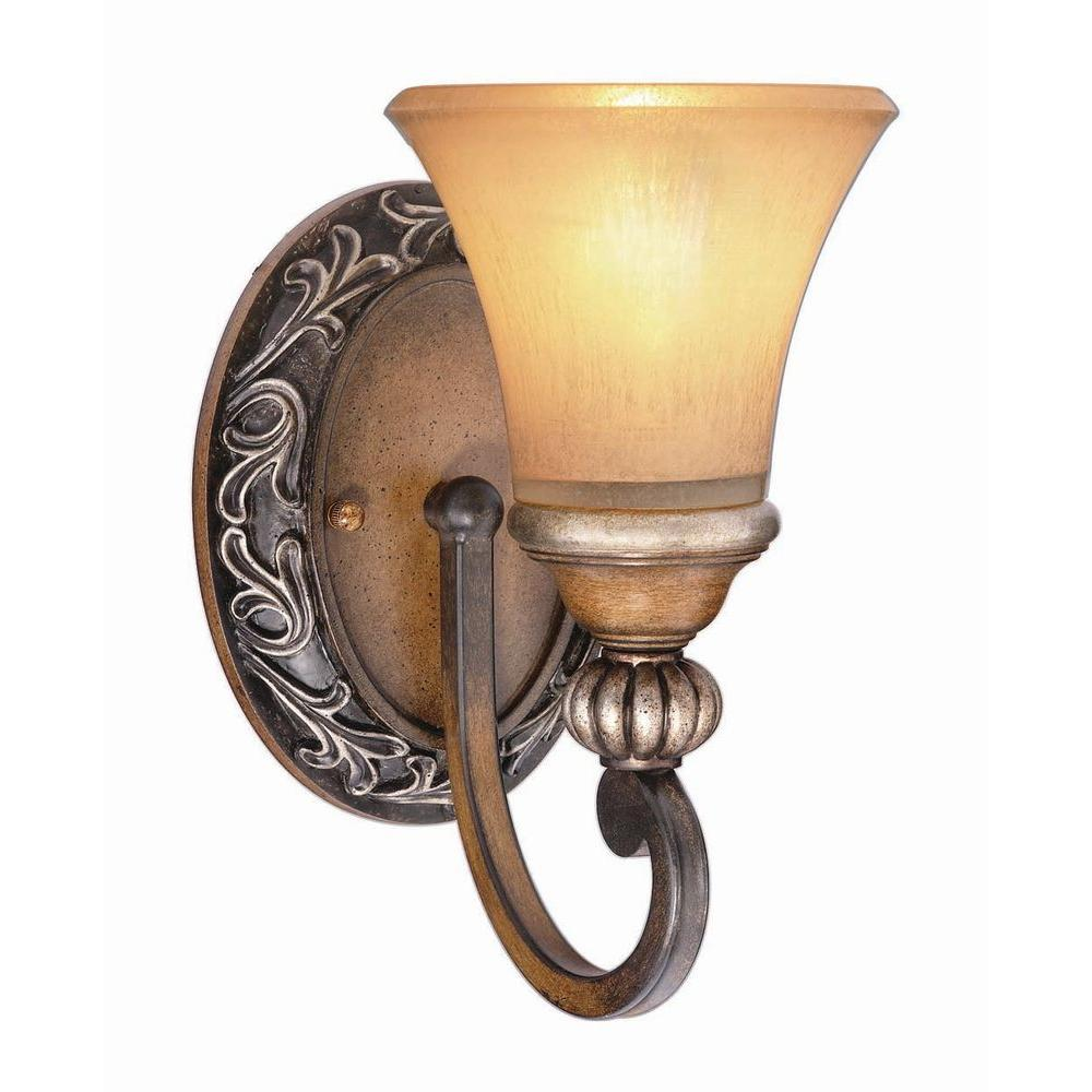 Hampton Bay 1-Light Caffe Patina Sconce