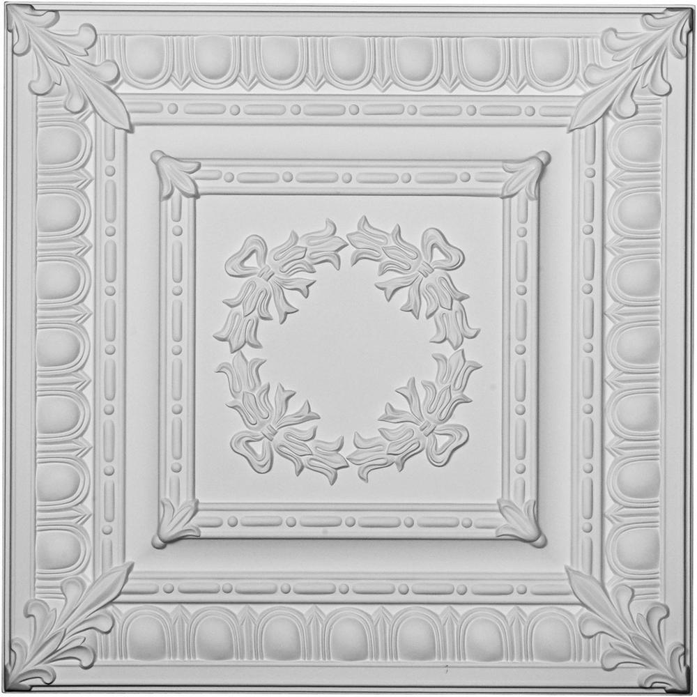 Milton Egg and Dart 2 ft. x 2 ft. Glue-up Ceiling Tile