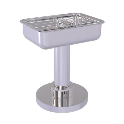 Vanity Top Soap Dish in Polished Chrome