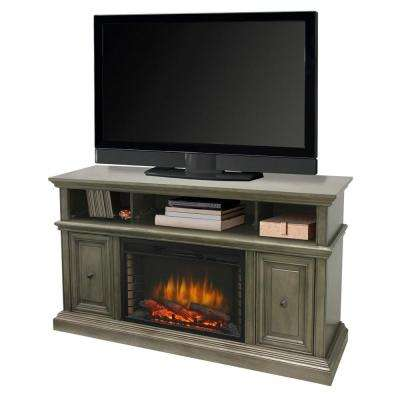 McCrea 58 in. Media Electric Fireplace TV Stand in Dark Weathered Gray
