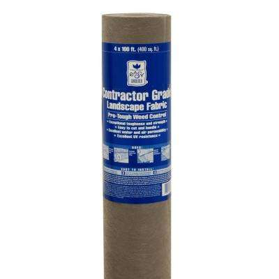 4 ft. x 100 ft. Polyester Contractor-Grade Landscape Fabric