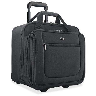 17.3 in. Black Polyester Classic Notebook Portfolio Carrying Case with Handle