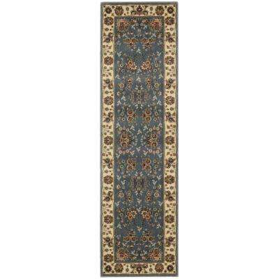 Persian Arts Light Blue 2 ft. x 8 ft. Runner Rug