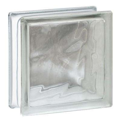 Nubio 7.75 in. x 7.75 in. x 3.12 in. Wave Pattern Glass Block (10-Pack)
