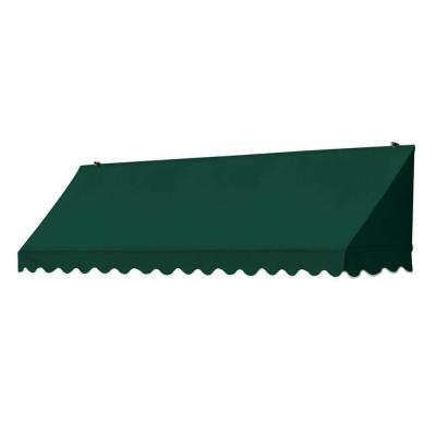 8 ft. Traditional Manually Retractable Awning (26.5 in. Projection) in Forest Green