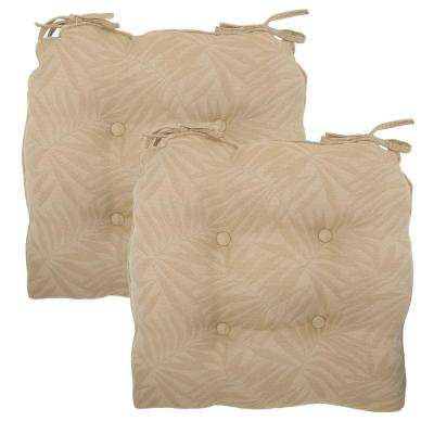 20.5 x 20 Outdoor Chair Cushion in Standard Roux Palm (2-Pack)