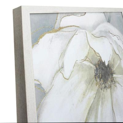 Home Decorators Collection Square Framed White Flower Wall Art 26 in. H x 26 in. W