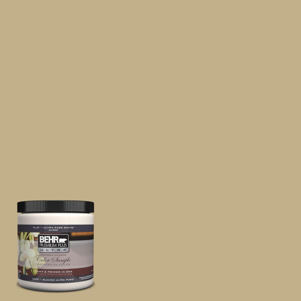 BEHR Premium Plus Ultra 8 oz. #380F-5 Harmonic Tan Interior/Exterior Paint Sample