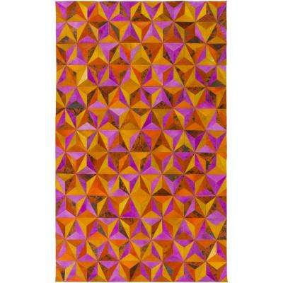 Connersville Magenta 5 ft. x 8 ft. Indoor Area Rug