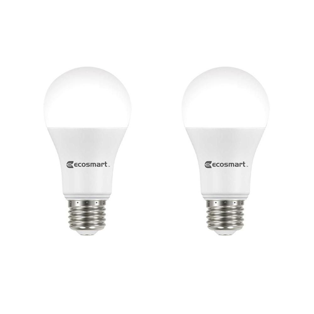 Ecosmart 100 Watt Equivalent A19 Dimmable Energy Star Led Light Bulb Daylight 2