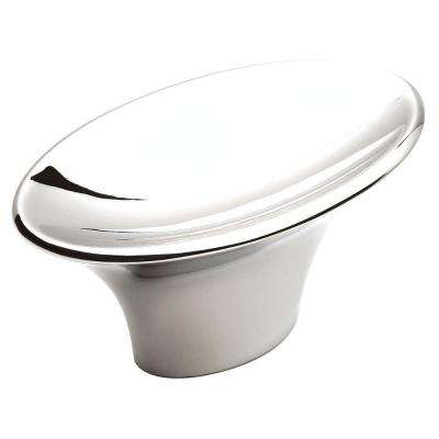 Sleek 2 in. Polished Chrome Cabinet Knob