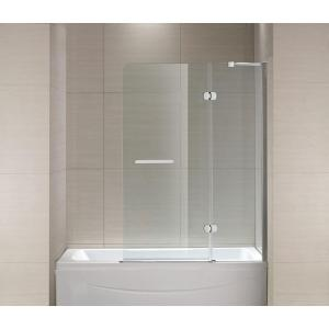 Attractive Semi Framed Hinge Tub And Shower Door In Chrome And Clear Glass SC70014    The Home Depot