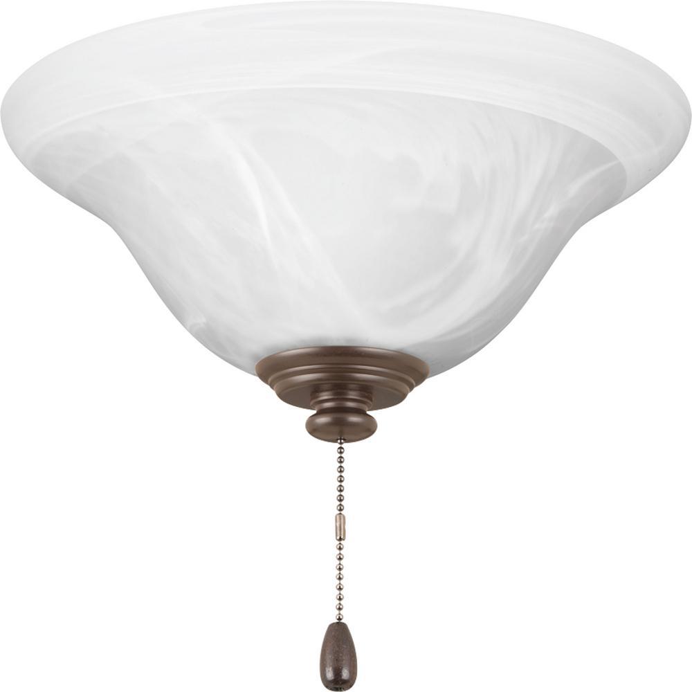 AirPro Collection 1-Light Antique Bronze Ceiling Fan Light Kit