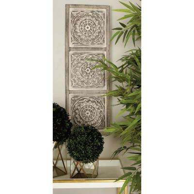 36 in. x 12 in. Rustic Traditional Decorative Wooden Wall Panel in Distressed Brown and Green (2-Pack)
