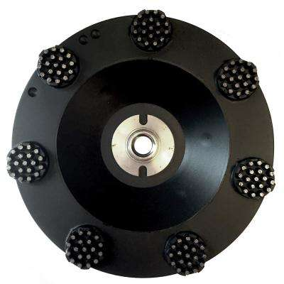 7 in. Pro Series Spike Grinding Wheel, Wet / Dry, 5/8 in. in. -11 Thread