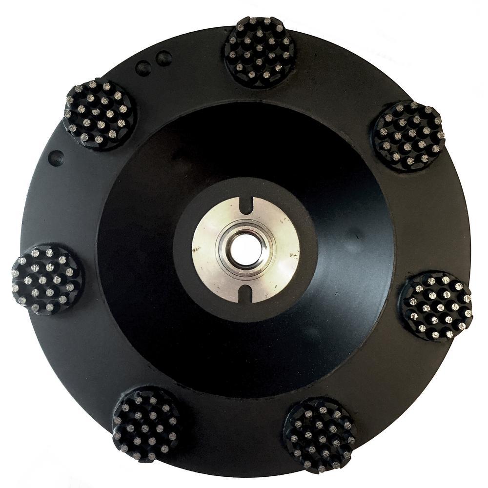 7 in. Pro Series Spike Grinding Wheel, Wet / Dry, 5/8 in. in. -11 Thread
