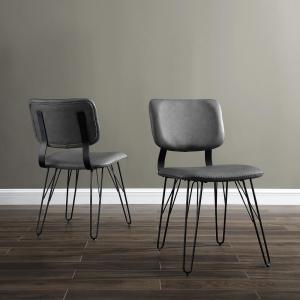 Astonishing Walker Edison Furniture Company Flax Back Grey Accent Dining Uwap Interior Chair Design Uwaporg