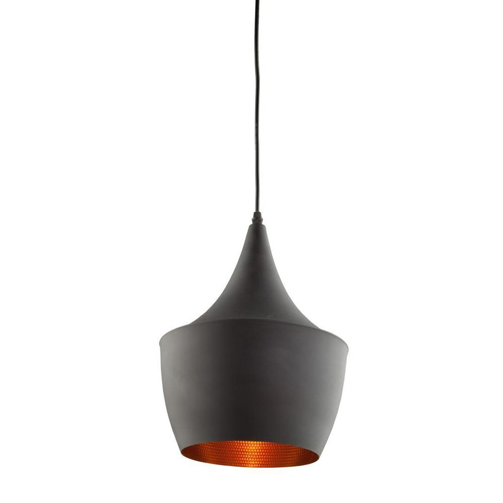 Alferov 1-Light Matte Black Pendant
