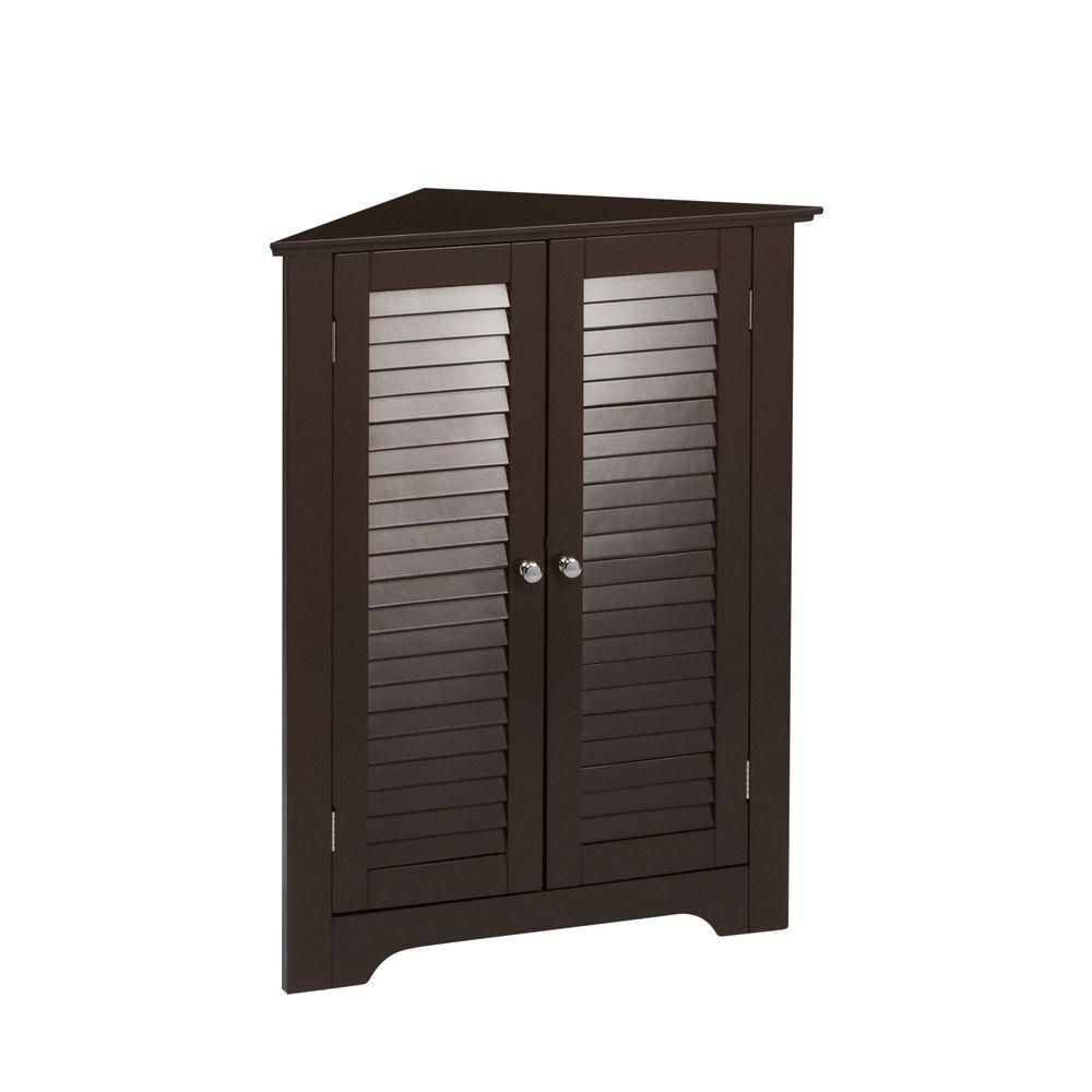 RiverRidge Home Ellsworth 18 in. L x 31-1/4 in. H  sc 1 st  Home Depot : corner cabinet espresso - Cheerinfomania.Com