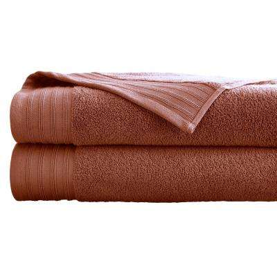 Oversized Quick Dry Bath Sheets in Cinnamon (2-Pack)