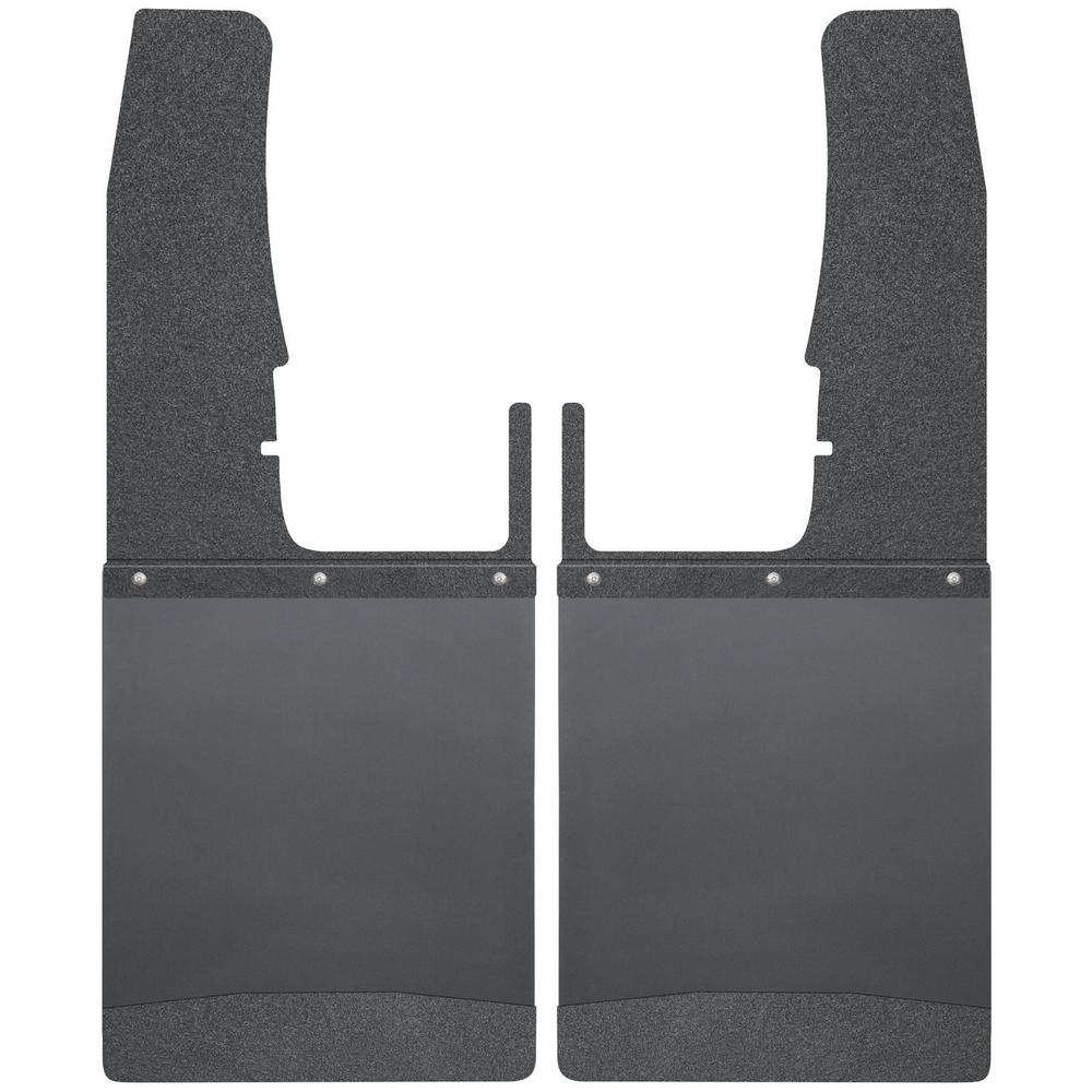 SS Top//Wt Fits Silv//F150//Ram Husky Liners Kick Back Mud Flaps 12IN Wide