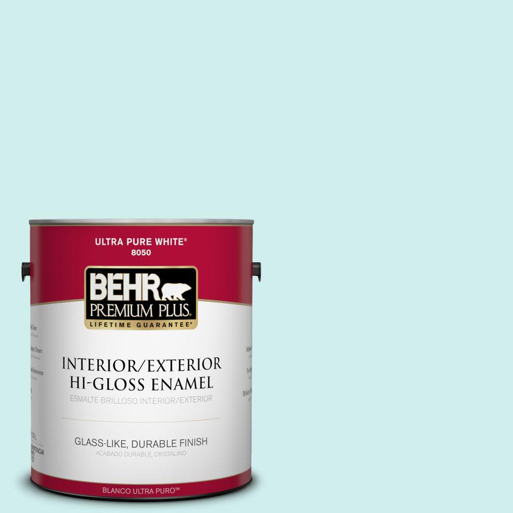 1-gal. #490A-1 Teal Ice Hi-Gloss Enamel Interior/Exterior Paint