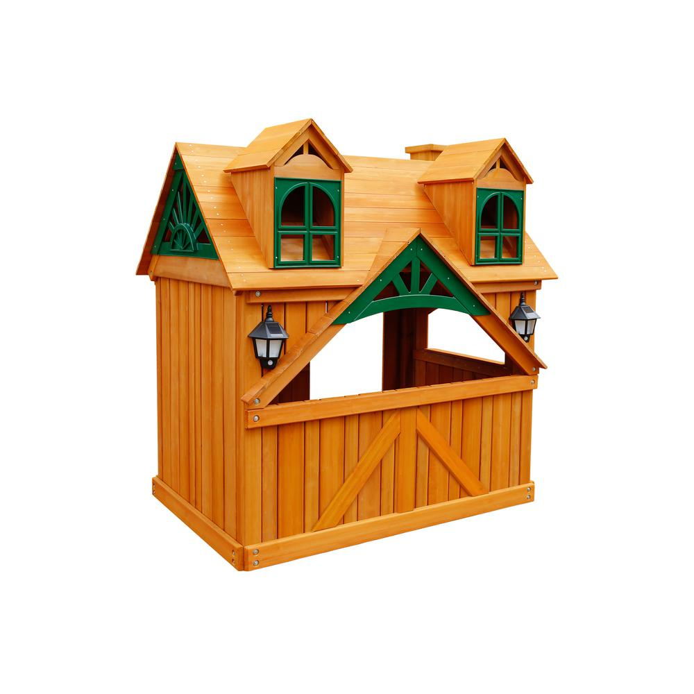 Gorilla Playsets Malibu Playhouse with Lemonade Sign