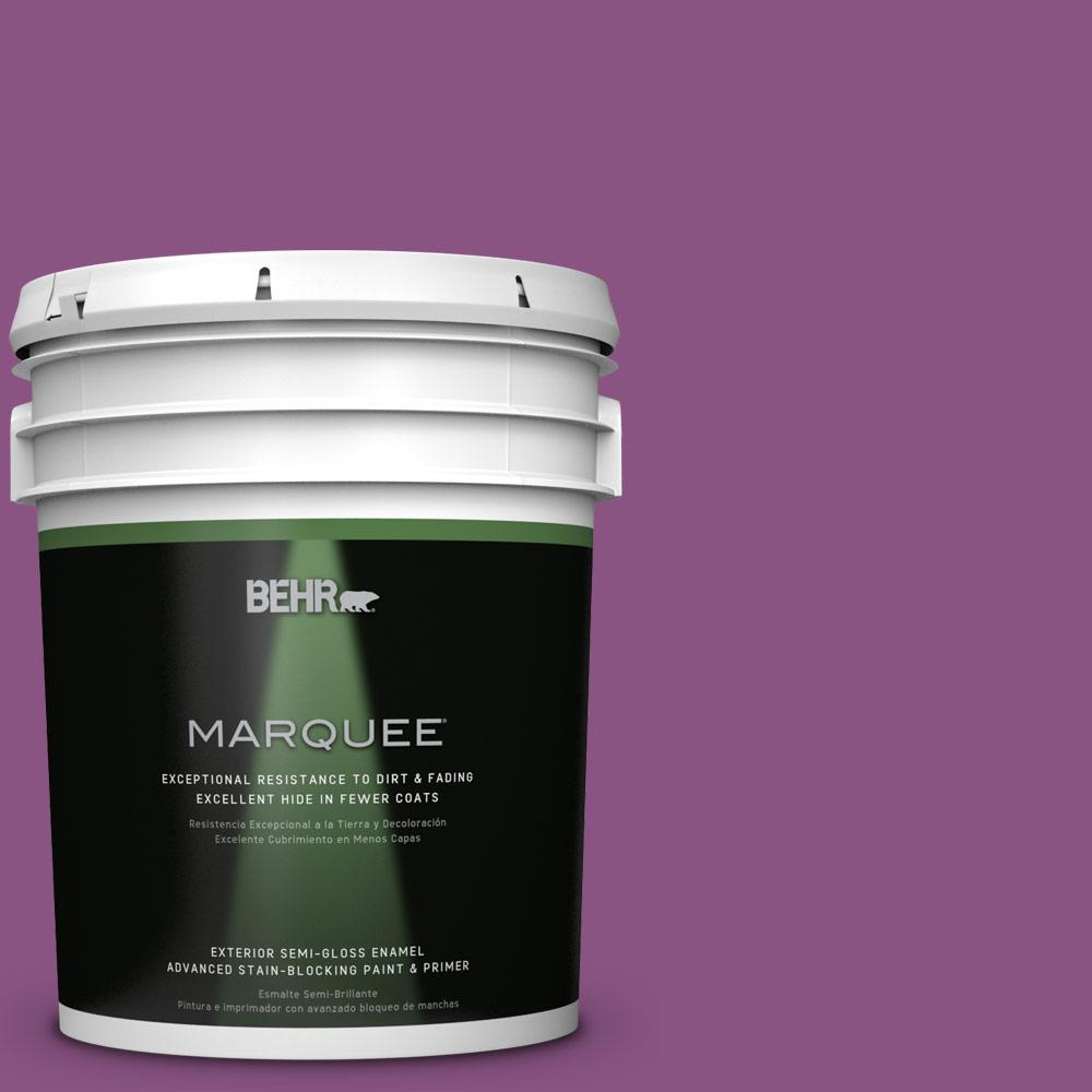 BEHR MARQUEE Home Decorators Collection 5-gal. #HDC-MD-07 Dynamic Magenta Semi-Gloss Enamel Exterior Paint