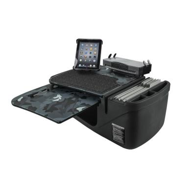 GripMaster Urban Camouflage Car Desk with Built-In Power Inverter, iPad/Tablet Mount and Printer Stand